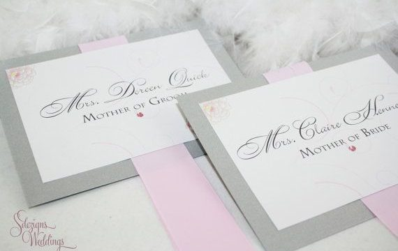 Winter-Themed Wedding Reserved Cards
