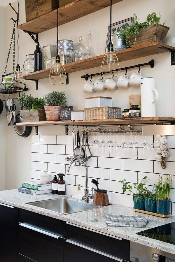 Open Airy Shelving